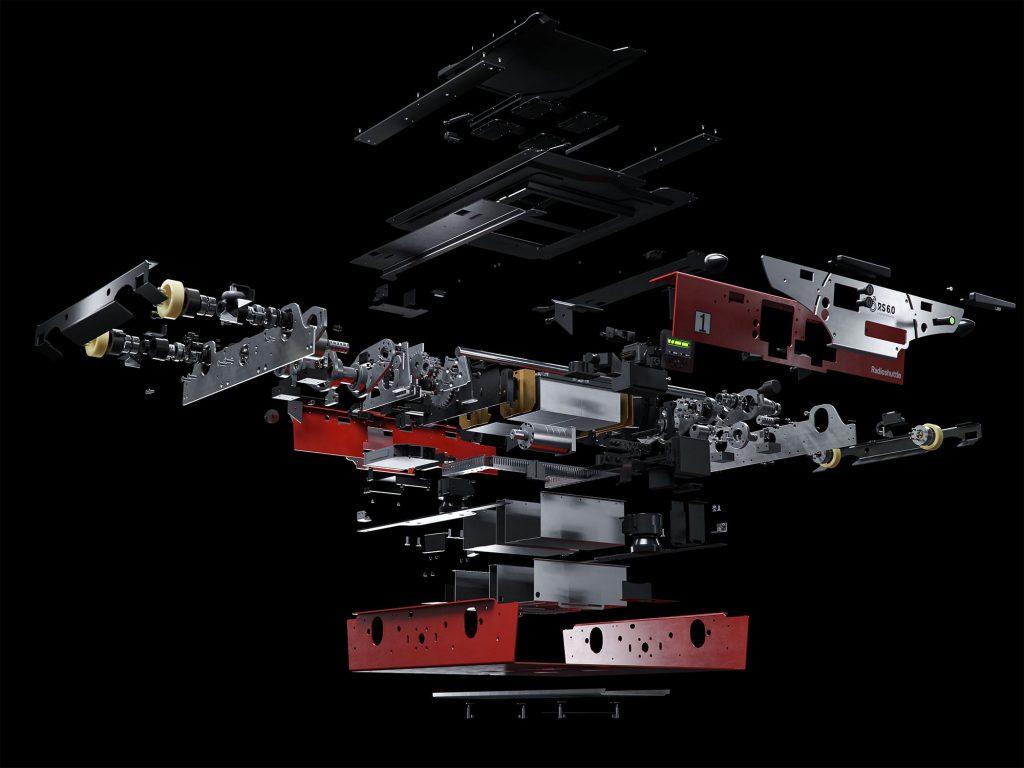 Originální podvozek Radioshuttle™ používá díly špičkové kvality 3