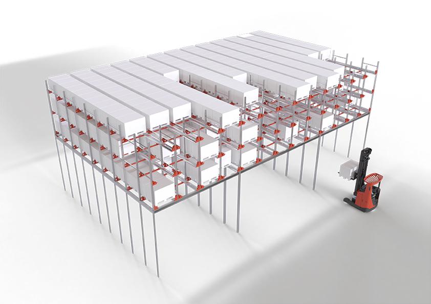 Radioshuttle™ systém na mezzaninu zvýší kapacitu skladu