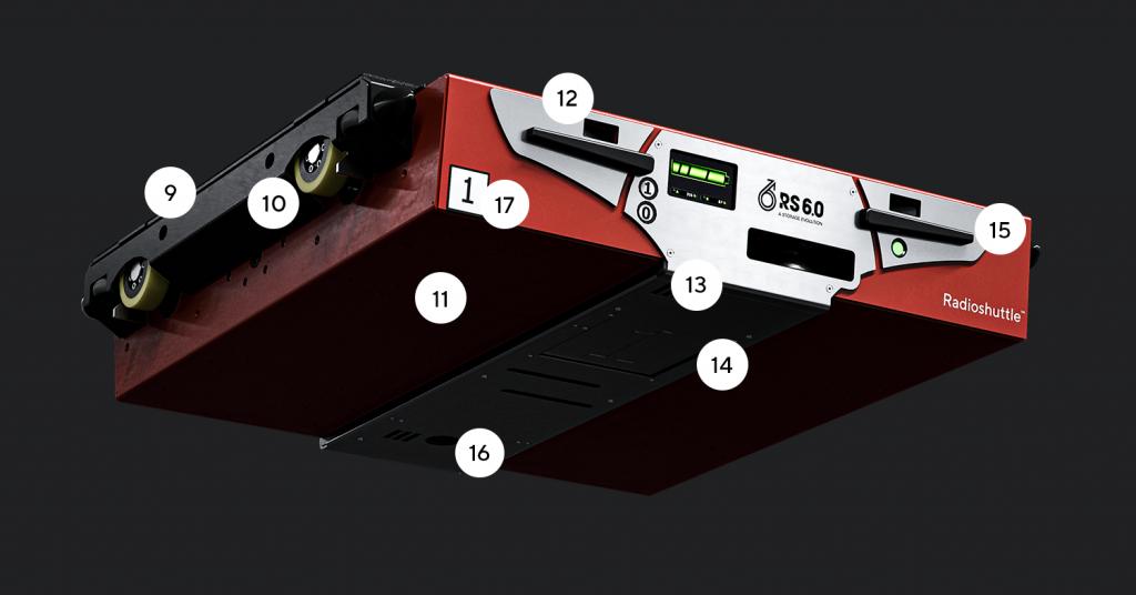 Promyšlený design Radioshuttle™ s vychytanými detaily vespod